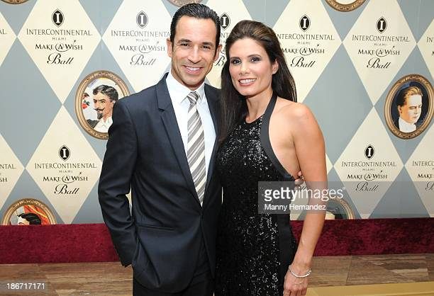 Helio Castroneves and Adriana Henao attends 19th Annual Miami MakeAWish Ball at InterContinental Hotel on November 2 2013 in Miami Florida