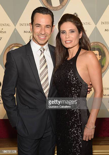 Helio Castroneves and Adriana Henao attends at InterContinental Hotel on November 2 2013 in Miami Florida