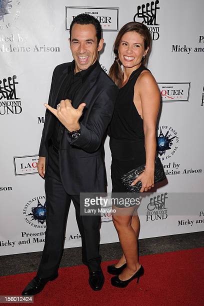 Helio Castroneves and his wife Adriana Henao attend Destination Fashion 2012 To Benefit The Buoniconti Fund To Cure Paralysis at Bal Harbour Shops on...