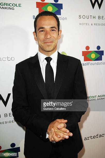 Helio Castroneves attends Brazil Foundation Gala at W South Beach on March 27 2012 in Miami Beach Florida