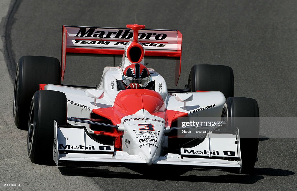 Helio Castroneves drives the #3 Marlboro Team Penske Toyota Dallara during practice for the Indy Racing League IndyCar Series Menards A.J. Foyt Indy 225 on July 23, 2004 at the Milwaukee Mile in Milwaukee, Wisconsin.