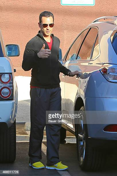 Helio Castroneves is seen on September 28 2012 in Los Angeles California