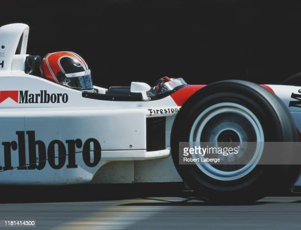Helio Castroneves of Brazil drives the Marlboro Team Penske Reynard 2KI Honda HRK during the Championship Auto Racing Teams 1997 PPG Indy Car World...