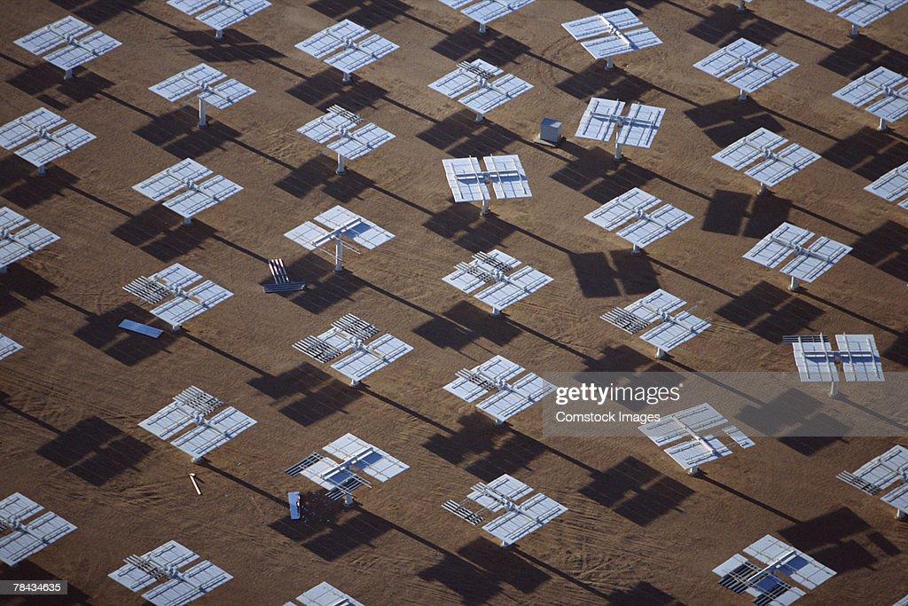 Heliostat mirrors at solar power plant , Daggett , California : Stockfoto