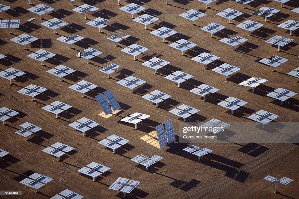 Heliostat mirrors , Daggett , California : Stockfoto