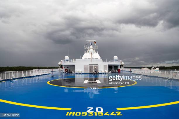 Helipad on ferry boat