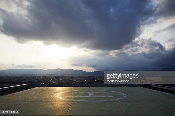 heliport and sky in Kyoto