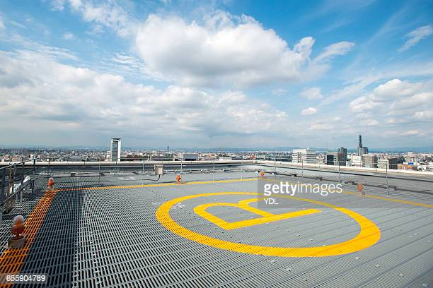 Heliport at the top of skyscraper. in Japan