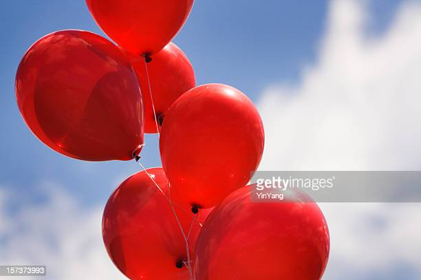 Helium Party Balloons Against Sky for Celebration Events
