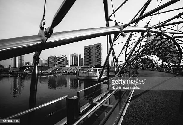 Helix bridge in the morning