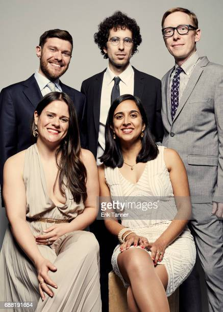 Hell and High Water team Ryan Murphy Kiah Collier Al Shaw Neena Satija and Jeff Larson are photographed at the 76th Annual Peabody Awards at Cipriani...