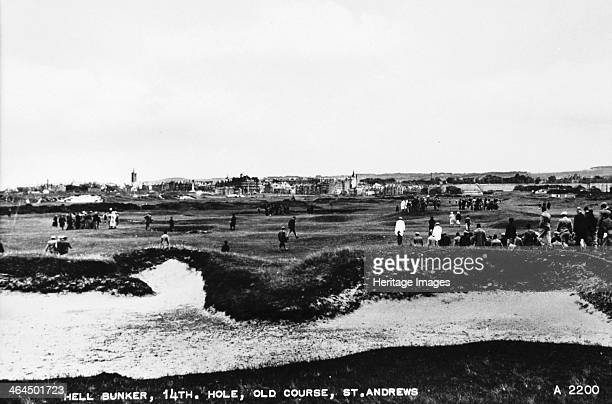 'Hell Bunker 14th hole Old Course St Andrews' c1910