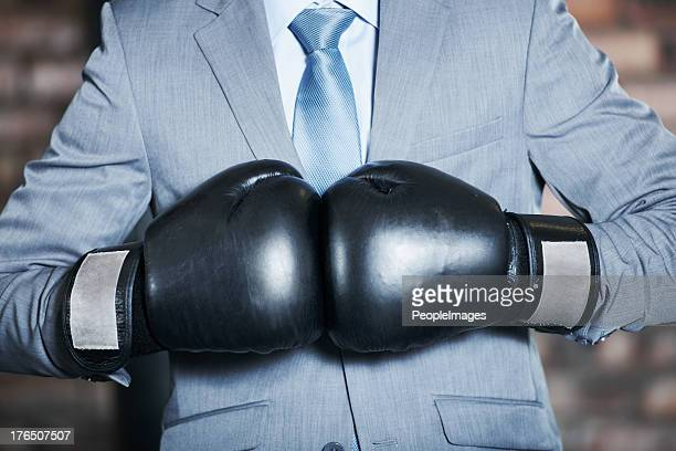he'll fight his way to the top! - boxing gloves stock photos and pictures
