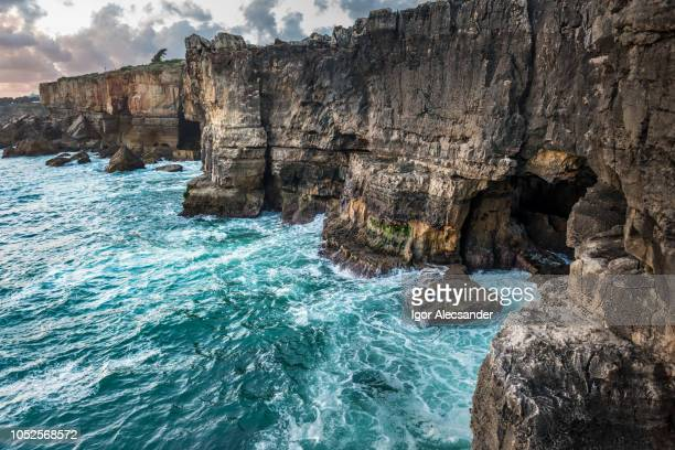 hell mouth, cascais, portugal - cascais stock photos and pictures