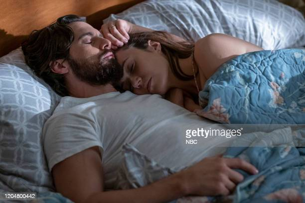 """Hell of a Week: Part Three"""" Episode 413 -- Pictured: Milo Ventimiglia as Jack, Mandy Moore as Rebecca --"""