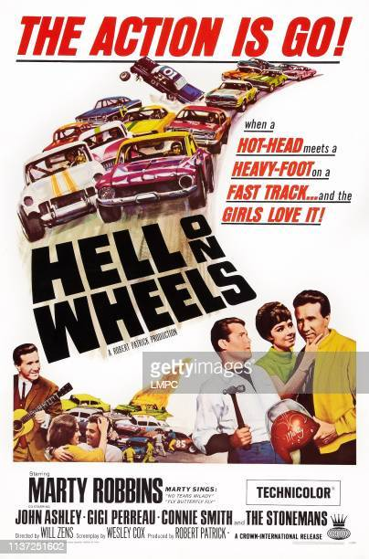Hell On Wheels poster US poster art bottom right from left John Ashley Gigi Perreau Marty Robbins 1967