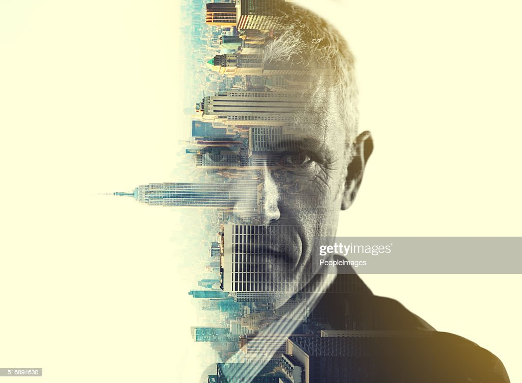 He'll turn this city on it's head : Stock Photo