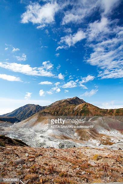 hell valley and mt. dainichi, toyama prefecture, honshu, japan - hokuriku region stock photos and pictures