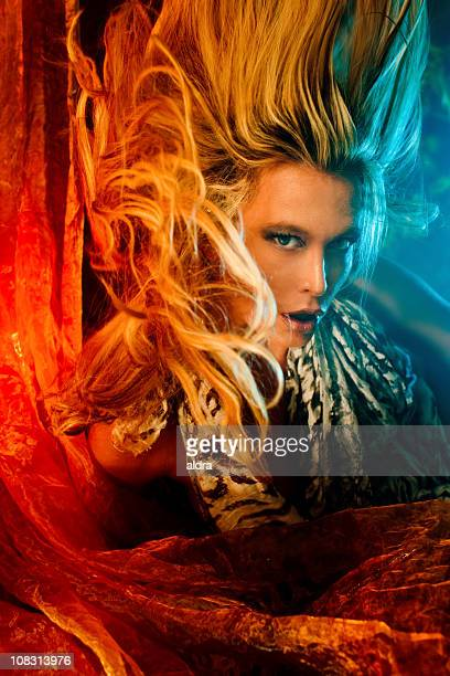 hell witch - flammable stock photos and pictures