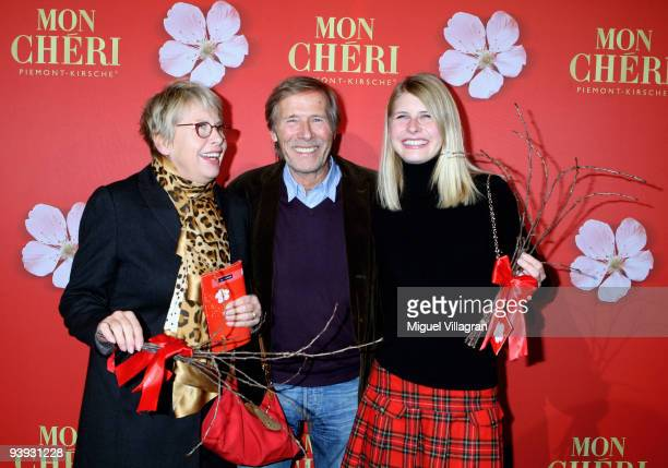 Hella Janson actor Horst Janson and daughter Laura Janson attend the 'Barbara Day' on December 4 2009 in Munich Germany