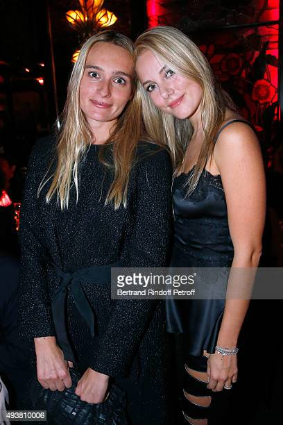 Hella Pohl and Viera Goulandris attend the Dinner in honor of the Artist Adrian Ghenie organized by Thaddaeus Ropac at Maxim's on October 22 2015 in...