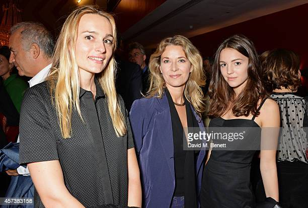 Hella Pohl Louise Grob and Ella Grob attend the VIP Gala Screening of 'Marc Quinn Making Waves' at the Ham Yard Hotel on October 17 2014 in London...