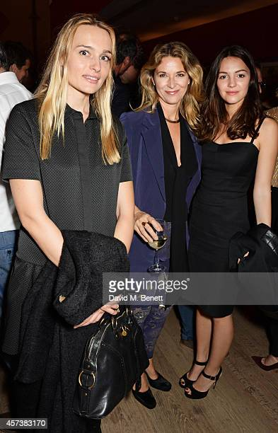 Hella Pohl Louise Grob and Ella Hunt attend the VIP Gala Screening of 'Marc Quinn Making Waves' at the Ham Yard Hotel on October 17 2014 in London...
