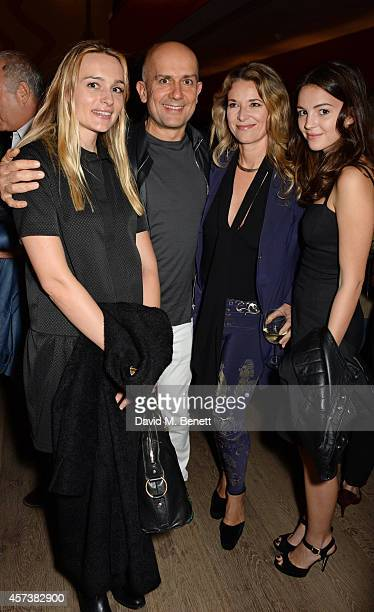 Hella Pohl Marc Quinn and guests attend the VIP Gala Screening of 'Marc Quinn Making Waves' at the Ham Yard Hotel on October 17 2014 in London England