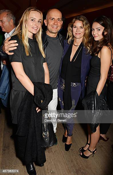 Hella Pohl Marc Quinn Louise Grob and Ella Hunt attend the VIP Gala Screening of 'Marc Quinn Making Waves' at the Ham Yard Hotel on October 17 2014...