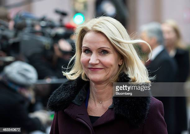 Helle ThorningSchmidt Denmark's prime minister arrives for a European Union leaders summit in Brussels Belgium on Thursday Feb 12 2015 EU leaders...