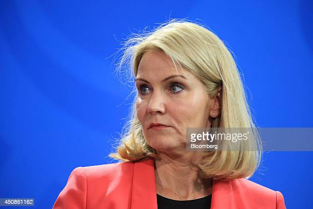 Helle ThorningSchmidt Denmark's prime minister pauses during a news conference at the Chancellery in Berlin Germany on Thursday June 19 2014 German...