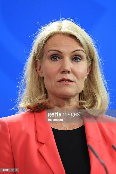 Helle ThorningSchmidt Denmark's prime minister speaks during a news conference at the Chancellery in Berlin Germany on Thursday June 19 2014 German...