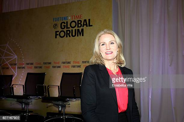 Helle ThorningSchmidt Former Prime Minister of Denmark and CEO of Save the Children International attend the Fortune Time Global Forum 2016 on...