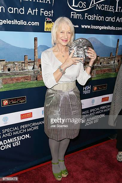 Hellen Mirren is honored at the 5th Annual Los Angeles Italia Festival at Mann Chinese 6 on March 6 2010 in Los Angeles California