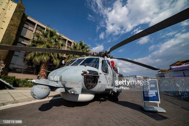 A Hellenic Navy Sikorsky S70B6 helicopter demonstrated in the 83rd Thessaloniki International Fair EXPO in 2018 The helicopter is operated by the...