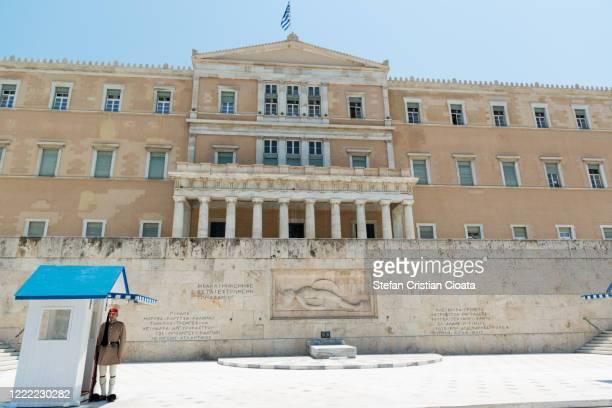 hellenic parliament, athens, greece - ギリシャ国会議事堂 ストックフォトと画像