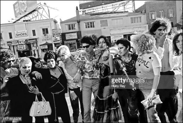 Hellin Killer, Trudie Trudie, Pleasant Gehman, Darby Crash, Nickey Beat, Alice Bag, Delphina, Lorna Doom, Pat Smear, Jena at the Tower Records...