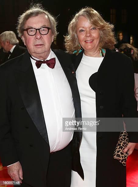 Hellmuth Karasek and Armgard Karasek attend 'Goldene Kamera 2013' at Axel Springer Haus on February 2, 2013 in Berlin, Germany.