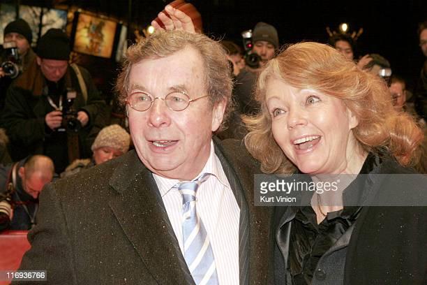 """Hellmuth Karasek and Armgard Karasek during 56th Berlinale International Film Festival - """"Snow Cake"""" Premiere in Berlin, Germany."""