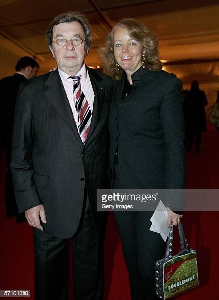 Hellmuth Karasek and his wife Armgard Karasek arrive for the LEAD Awards 2006 at the Deichtorhallen on March 15, 2006 in Hamburg, Germany.