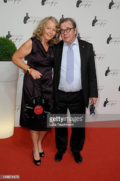Hellmuth Karasek and wife Armgard Seegers-Karasek attend the Axel Springer 100th Anniversary at the Axel Springer Haus on May 2, 2012 in Berlin,...