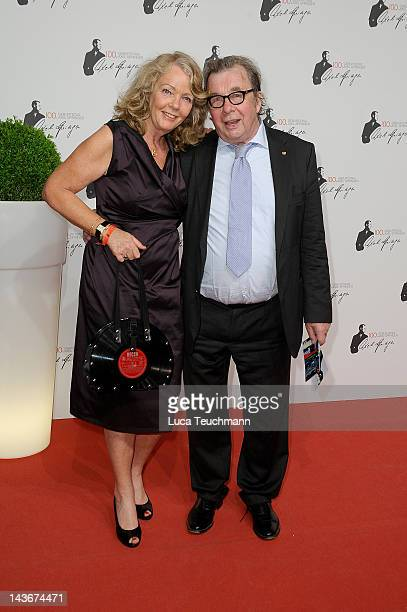 Hellmuth Karasek and wife Armgard Seegers-Karasek attends the Axel Springer 100th Anniversary at the Axel Springer Haus on May 2, 2012 in Berlin,...