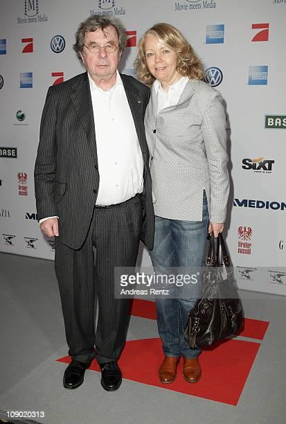 Hellmuth Karasek snd Armgard Seegers-Karasek attend the Movie meets Media party during the 61st Berlin International Film Festival at Ritz Carlton on...
