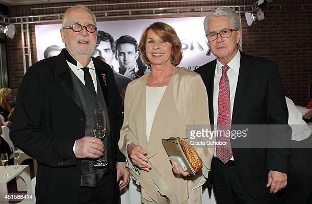 Hellmuth Matiasek Senta Berger and Frank Elstner attend the 'Gala Abend mit Arthur Cohn' as part of Filmfest Muenchen 2014 at Gasteig on July 1 2014...