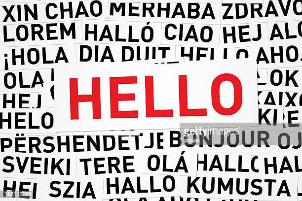 Bonjour, dans différentes langues