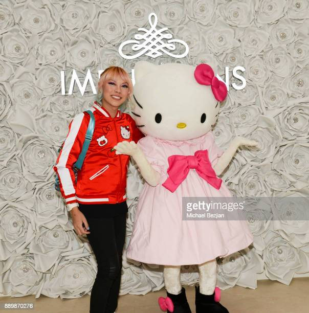Hello Kitty and Jaycee Kawaii arrive at Hello Kitty Touch Pro Launch Party on December 10 2017 in Los Angeles California
