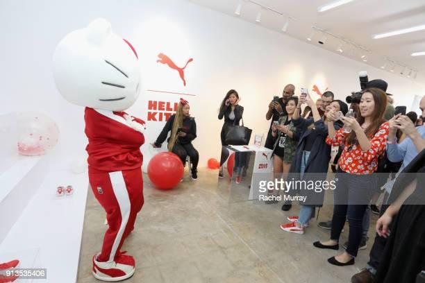 c76e8f363e4 Hello Kitty attends PUMA x Hello Kitty Launch Event At Shoe Palace LA on  February 2