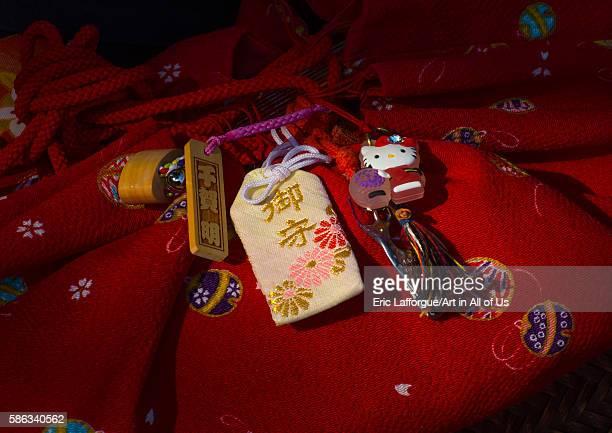 Hello kitty key ring of a 16 years old maiko called chikasaya kansai region kyoto Japan on May 27 2016 in Kyoto Japan