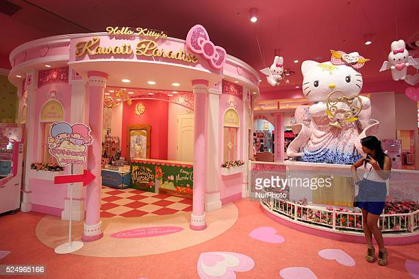Hello Kittyfs Kawaii Paradise pictured in Tokyo April 27 2015 Hello Kittyfs Kawaii Paradise is located on the first floor the gfamily floorh Itfs...