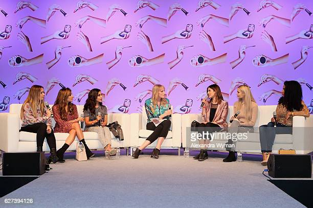 Hello October Amelia Liana Dulce Candy Jade Parfitt Lily Pebbles Roxxsaurus and Curly Proverbz attend Beautycon Festival London 2016 at Olympia...